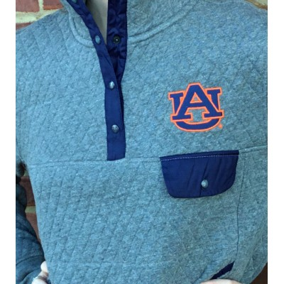 AU Grey Quilted Pullover