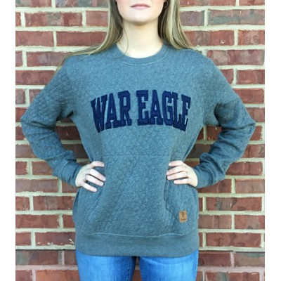 War Eagle Quilted Crew