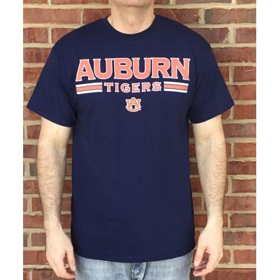 Auburn Stripe Navy Shirt