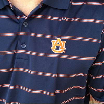 Auburn Navy Antigua Polo