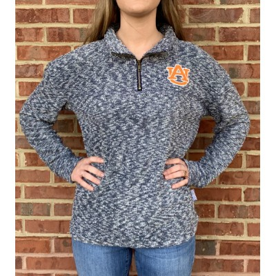 Navy Woolly 1/4 Zip Pullover
