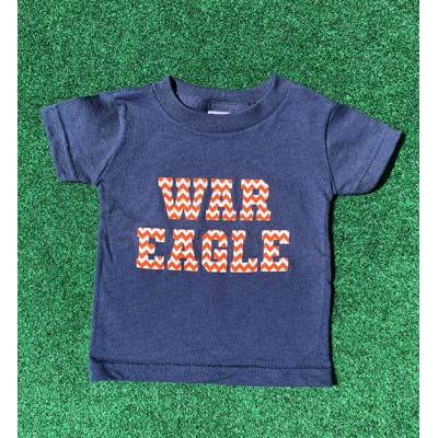 Navy Chevron Infant Shirt