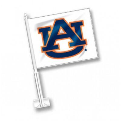 White Auburn Car Flag