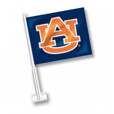 Navy Auburn Car Flag