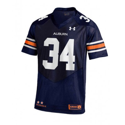#34 Youth Navy Jersey