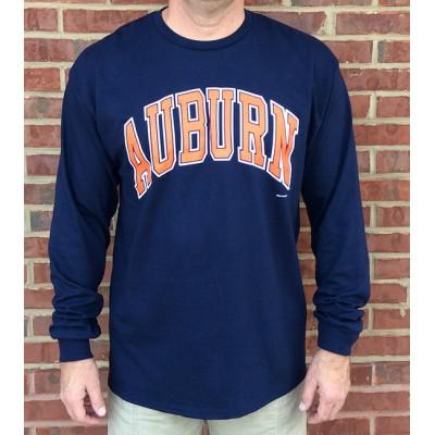 L/S Auburn Navy Shirt