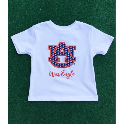 Auburn White Toddler Shirt