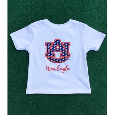 Auburn White Toddler Shirt