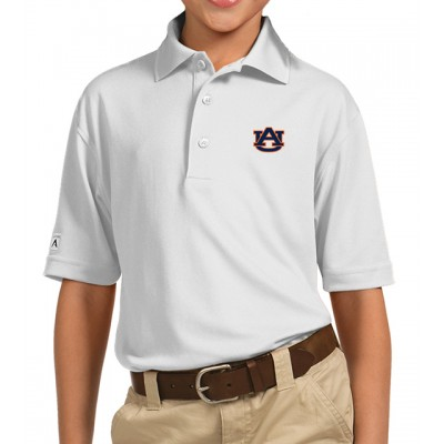 Auburn White Youth Polo