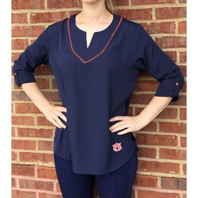 Navy Classic Stitch Tunic