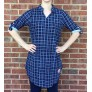 Navy Sheen Pattern Tunic