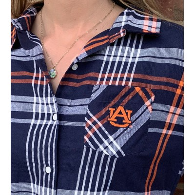 AU Navy Plaid Tunic