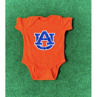 AU Logo Orange Onesie