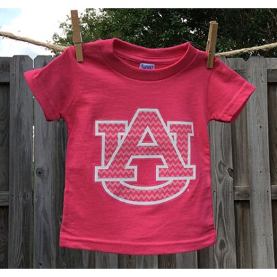 Pink Chevron Toddler Shirt