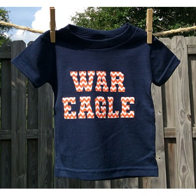 Navy Chevron Toddler Shirt