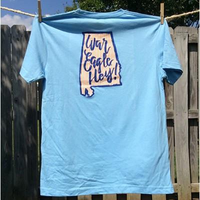Blue Seersucker Youth Shirt